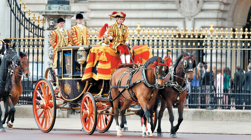 Prince Charles and Camilla, Duchess of Cornwall leaving Buckingham Palace