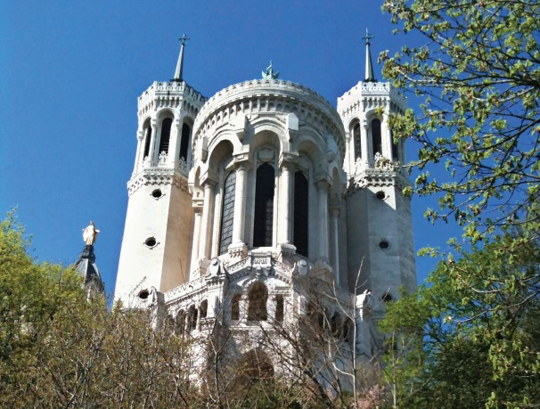 The Basilica of Notre-Dame de Fourvière dominates the city