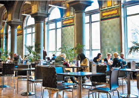 Tiled Hall Café is not merely confined to gastronomic delights, but a feast for the eyes equally