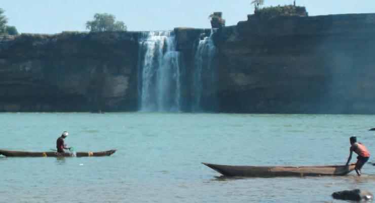 Les chutes de Chitrakote à l'ouest de aJagdalpur, dans le district de Bastar