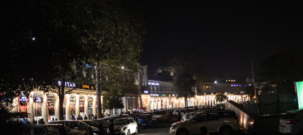 Connaught Place decorated