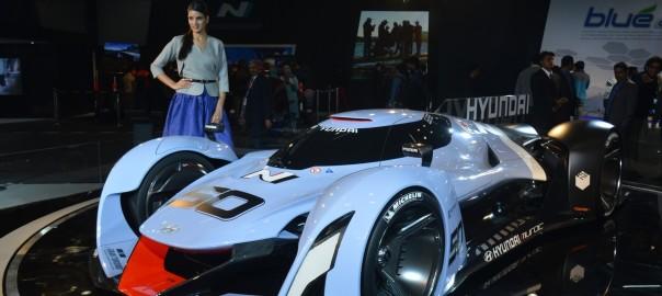 Hyundai N 2025 Vision Gran Turismo Concept : Hyundai also gave a futuristic concept to the crowd through N2025 Vision GT Concept that would be deriving power from a hydrogen fuel cell system.