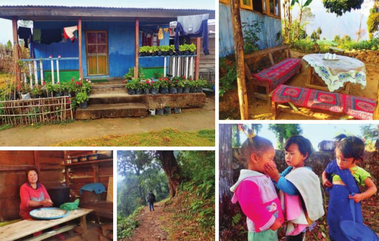 Pas de répit pour la mère de famille, qui s'attelle tous les jours, dès 6h du matin, à la préparation de repas ; Les villageois vivent dans de charmantes petites maisonnettes de bois, qu'ils construisent eux-mêmes.