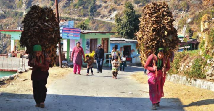Das Leben im Dorf Sari auf 1900m Höhe