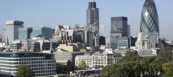 The City, in London, Britain