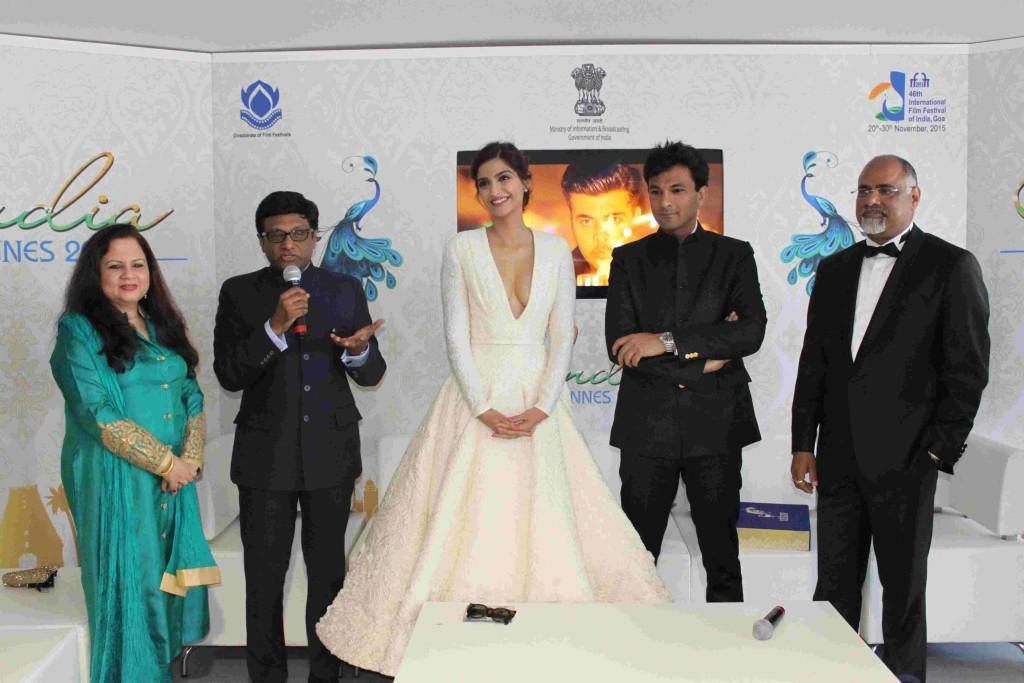 Sonam Kapoor at the India Pavilion in Cannes Film Festival 2016