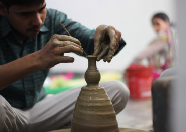 Workshop for kids and parents at Dilli Haat