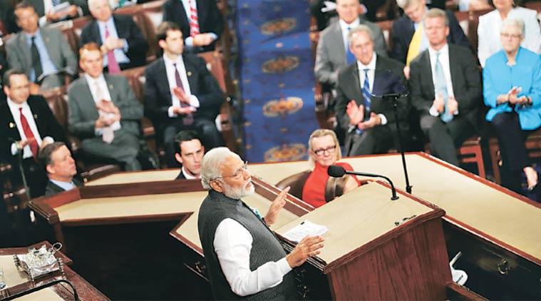 Le Premier ministre indien, Narendra Modi a fait un discours au Congrès américain le 8 juin. (Source: Reuters)
