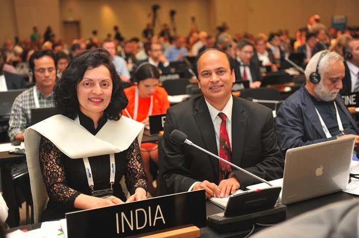 Permanent representative of India to UNESCO, Ruchira Kamboj at the 40th session of the World Heritage Committee in Istanbul