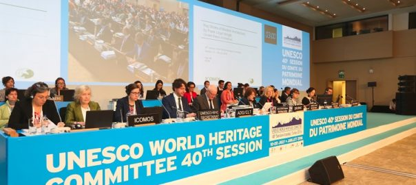 40th session of the World Heritage Committee in Istanbul, 17th July 2016. Inscriptions.