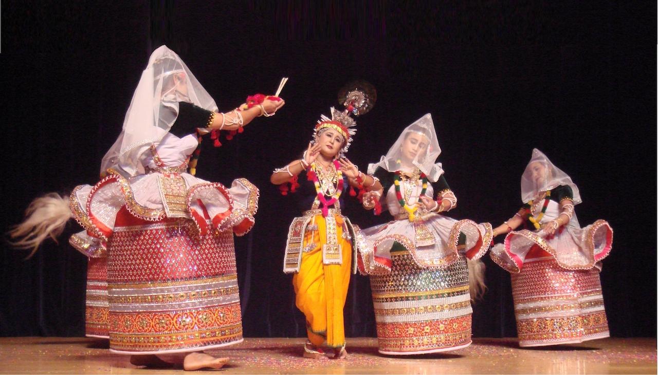 Raas Lila in Manipuri dance style
