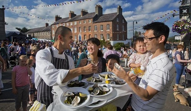 People in Ireland throw a three-day party full of music, dancing and of course, oysters to mark the beginning of the one month long festival