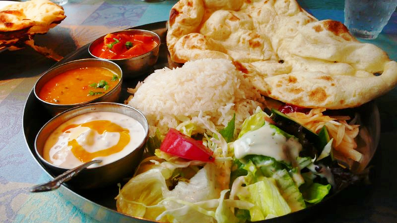 traditional Indian thali