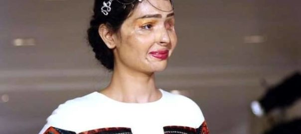 Acid attack survivor Reshma Qureshi debuted at NYFW. Source: mic.com