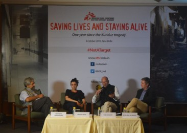 MSF in New Delhi marked one year of Kunduz hospital attack in Afghanistan