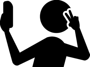 Taking a selfie might make you look devoid of good company