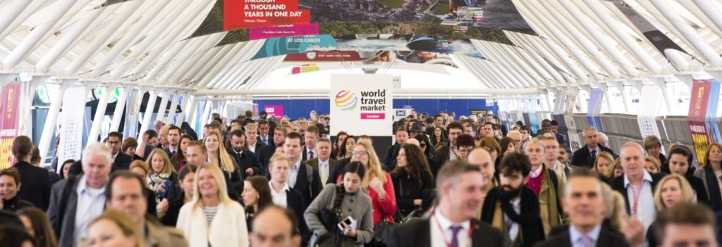 A glimpse of the busy travel show floor of WTM 2015