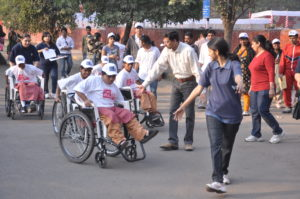 Udaan, a foundation for the differently abled based in New Delhi, organises Sports Day for the children