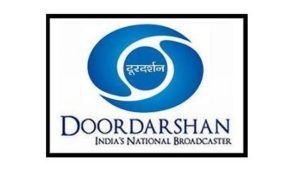 Logo of the national broadcaster Doordarshan.