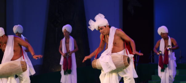 Drum dance by Manipuri men