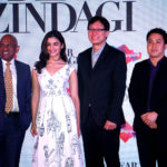 GB Srithar, Regional Director (SAMEA) - Singapore Tourism Board, Alia Bhatt, David Lim, General Manager - Singapore Airlines and Adrian Kong, Area Director (South Asia) - Singapore Tourism Board at the press event