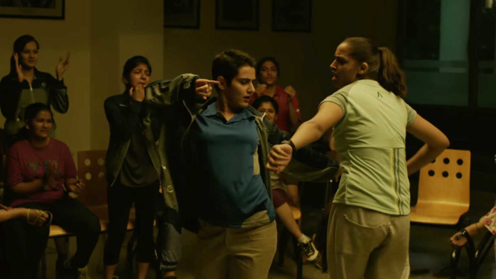 Fatima Sana Shaikh as Geeta Phogat in a scene from Dangal