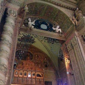 The mausoleum in Basilica Bom Jesus where Saint Francis Xaviers' mortal remains lie