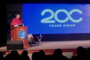 Gayatri Chakravorty Spivak spoke to a packed audience at Presidency University