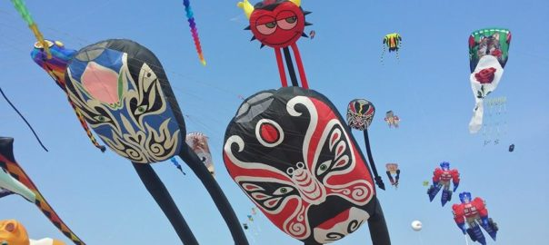 The festivals host to a huge range of kites in different shapes and sizes