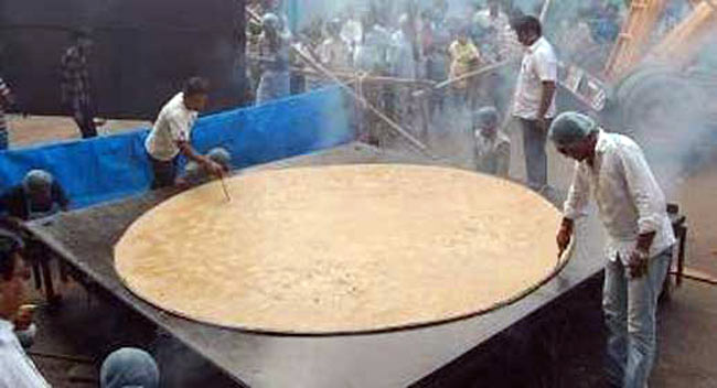 Largest roti/chapatti