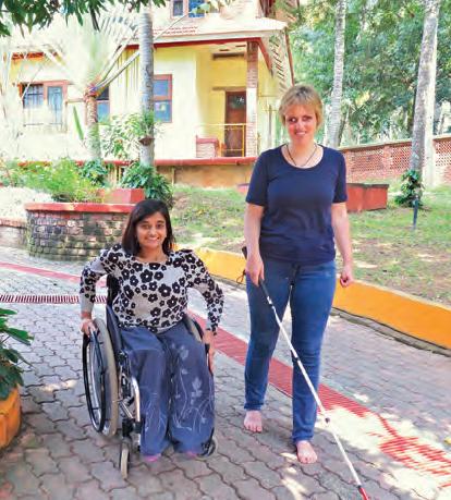 Amrita Gyawali et Sabriye Tenberken, co-fondatrice de Kanthari