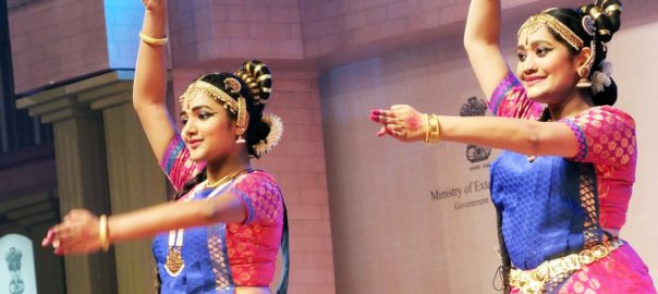 Traditional performances welcomed the overseas Indians at the event