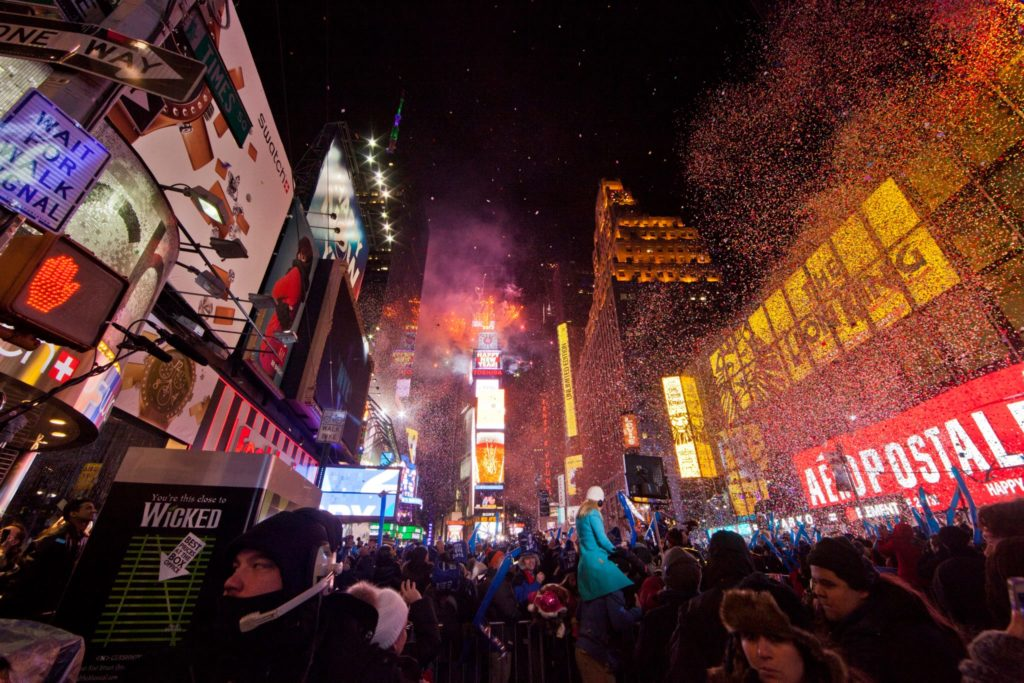 New Year celebrations at Times Square, New York