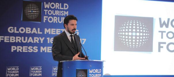 Bulut Bağcı addressing the Press at the Wyndham Grand, Istanbul