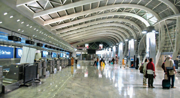 The modernised passenger terminal of Chhatrapati Shivaji International Airport (CSIA) in Mumbai