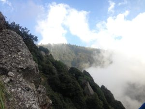 Encounters with clouds on the way up the hill make it an exciting journey