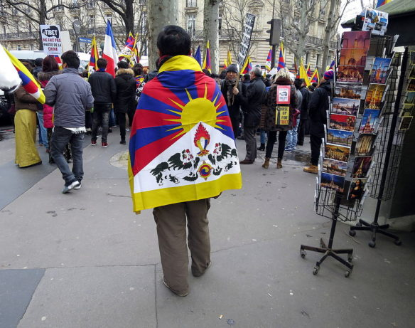 10th March sees agitations worldwide, urging for a 'Free Tibet' . Photo-Jean-no, Wikimedia Commons