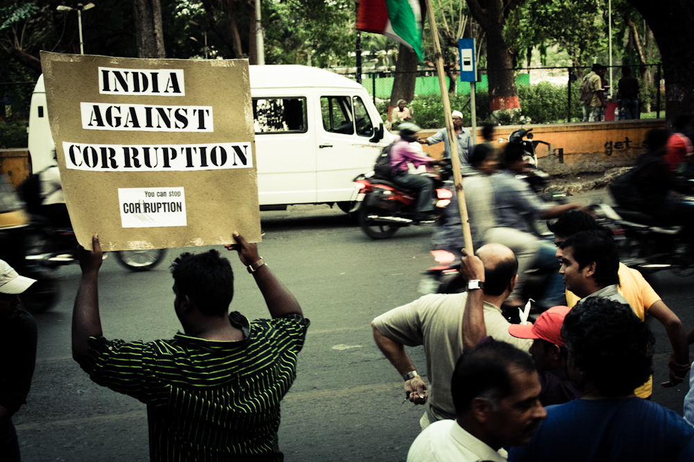 Bribery and corruption continue to pose a crucial challenge in India