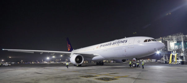 Brussels Airlines first flight arrives in Mumbai