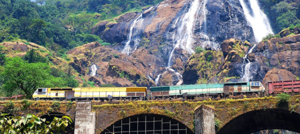 Dudhsagar Falls in Goa is a major eco-tourism hub of India