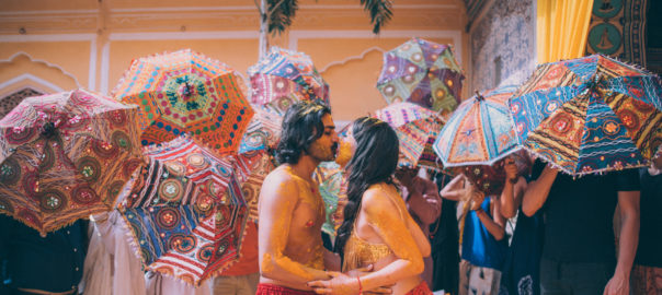 A boho themed destination wedding held at Samode Palace-Jaipur