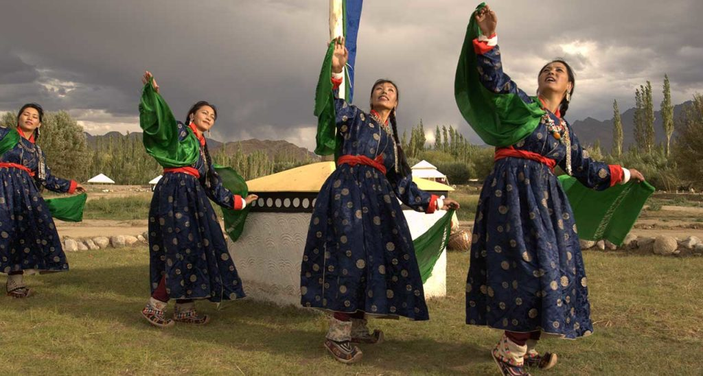 The Chamba Camp Thiskey enthrals the campers with their many engaging cultural activities