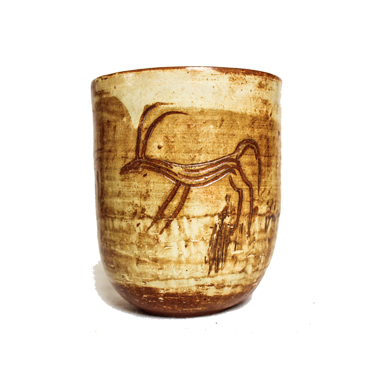 A Mesopotamian ceramic cup from the 'Historic Series'