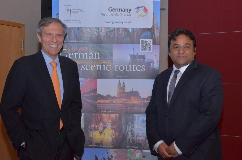German Ambassador Michael Steiner with Romit Theophilus, Director Sales & Marketing GNTO