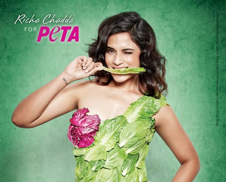 Richa Chadda is a celebrity vegan activist of India