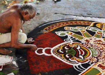 The art of Kalamezhuthu from Kerala