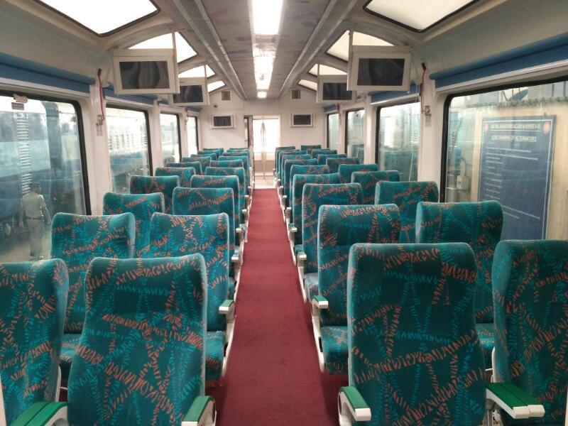 The Vistadome coach will provide the tourists a delightful experience
