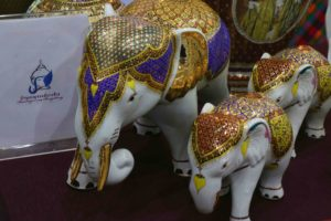The local art and craft from Northern Thailand was a big hit with visitors
