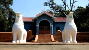 Inside the Kangla fort in Imphal, interesting architecture can be found