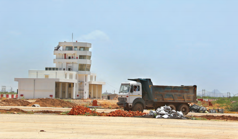 Construction going on at Kishangarh Airport